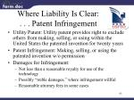 where liability is clear patent infringement