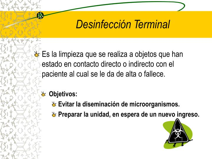 Desinfección Terminal