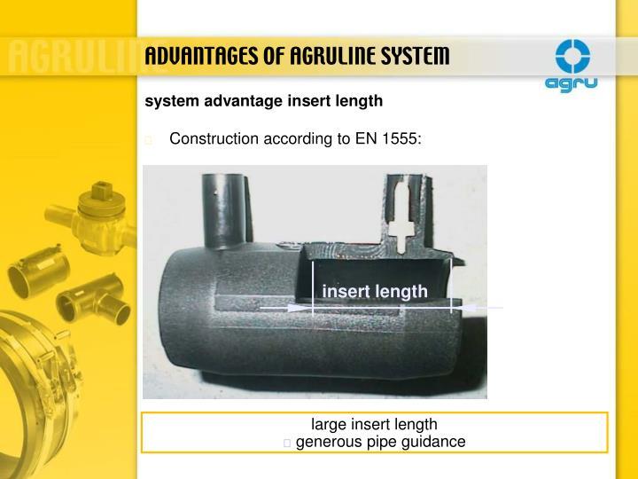 insert length