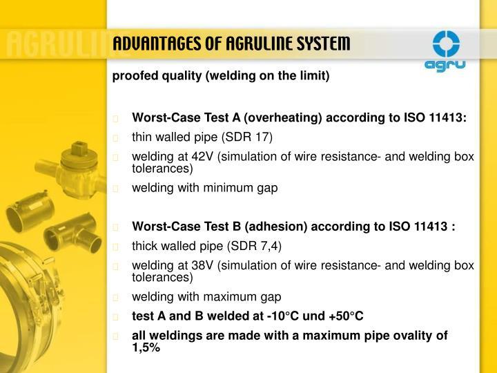 ADVANTAGES OF AGRULINE SYSTEM