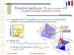 transition liquide gaz c capacit calorifique 0 un apport d nergie refroidit le syst me