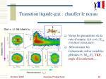 transition liquide gaz chauffer le noyau