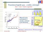 transition liquide gaz courbe calorique une vraie fausse signature