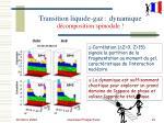 transition liquide gaz dynamique d composition spinodale