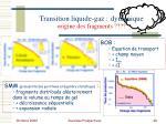 transition liquide gaz dynamique origine des fragments