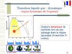 transition liquide gaz dynamique origine dynamique des fragments
