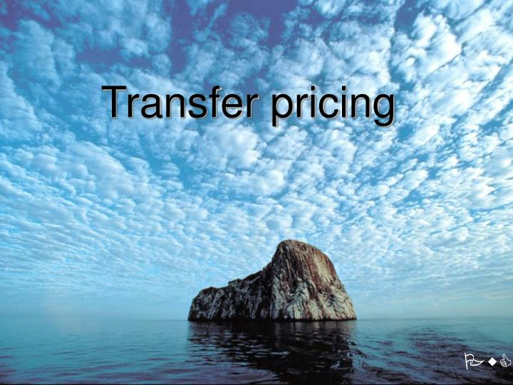 transfer pricing n.