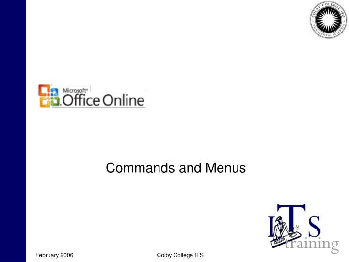 Commands and Menus