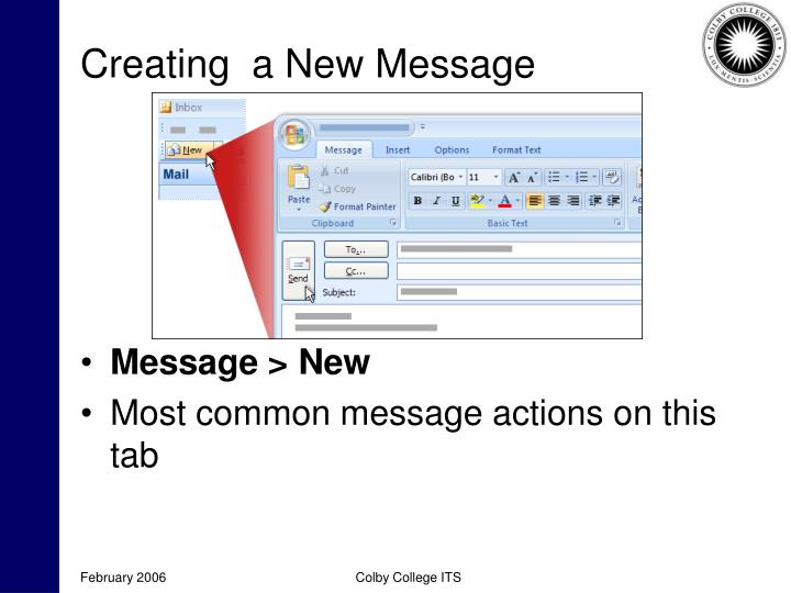 Creating  a New Message