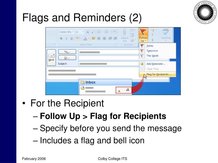 Flags and Reminders (2)