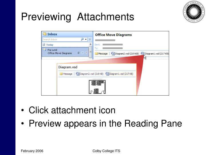 Previewing  Attachments