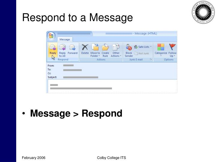 Respond to a Message