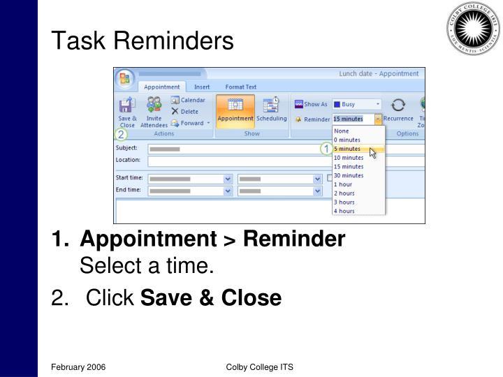 Task Reminders
