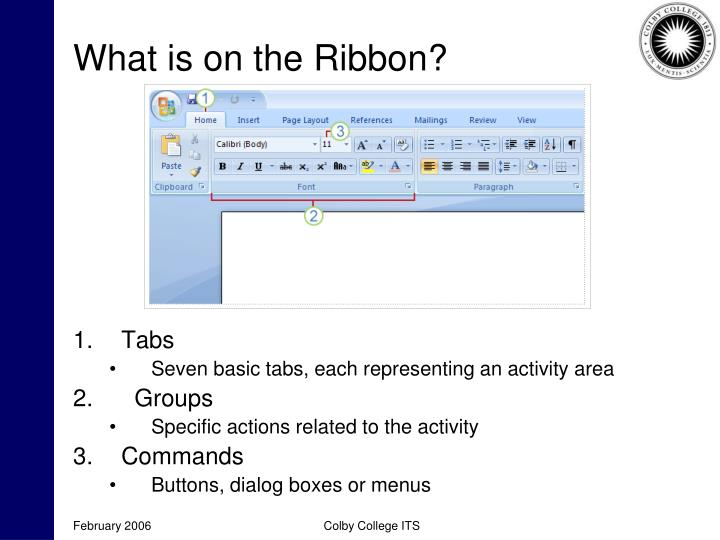 What is on the Ribbon?