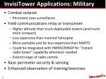 invisitower applications military