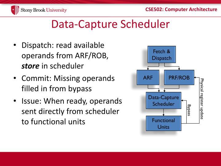 Data capture scheduler