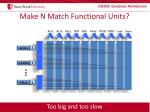 make n match functional units