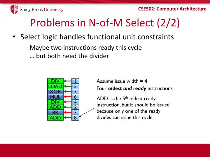 Problems in N-of-M Select (2/2)