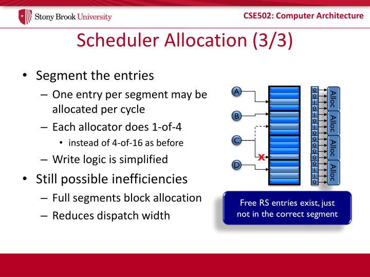 Scheduler Allocation