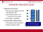 scheduler allocation 3 3