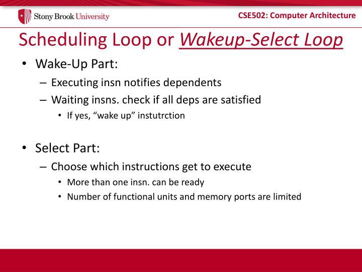 Scheduling Loop or