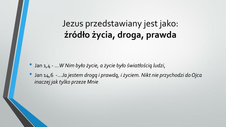 Jezus przedstawiany jest jako: