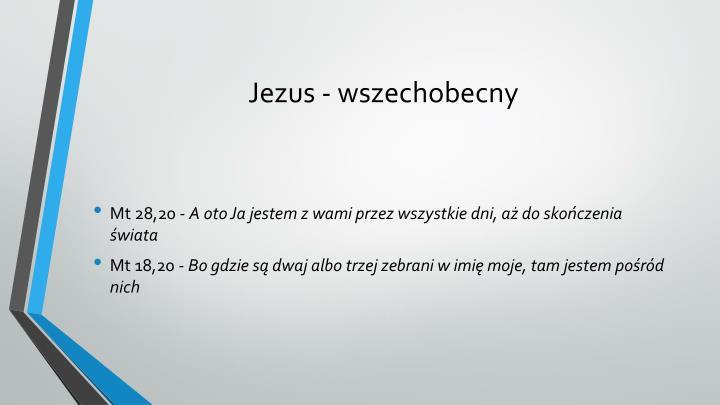Jezus - wszechobecny