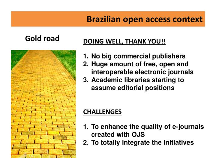 Brazilian open access context