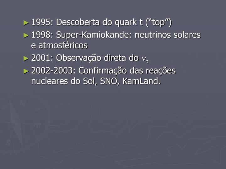 "1995: Descoberta do quark t (""top"")"