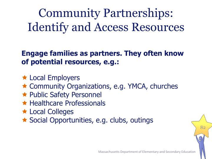 Community Partnerships: