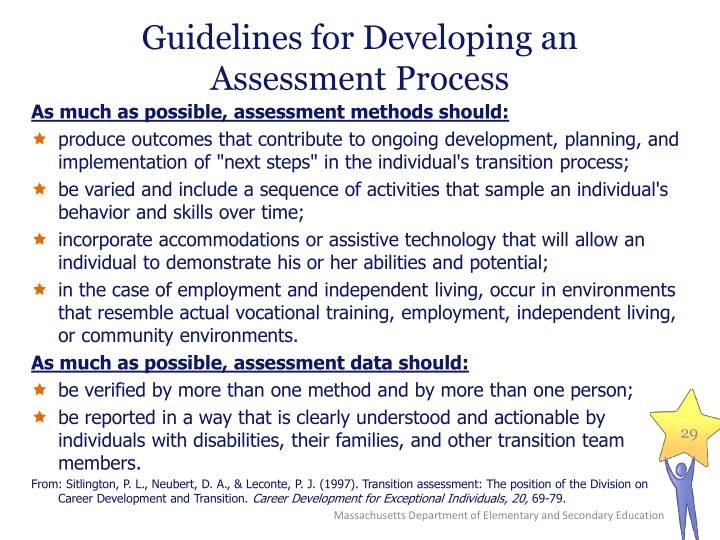 Guidelines for Developing an Assessment Process