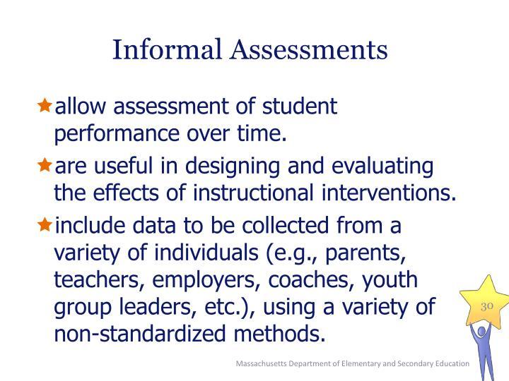 Informal Assessments