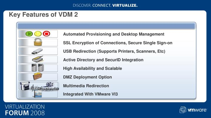 Key Features of VDM 2