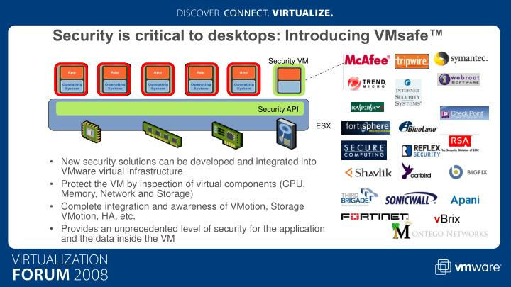 Security is critical to desktops: Introducing VMsafe™