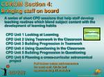 cdrom section 4 bringing staff on board