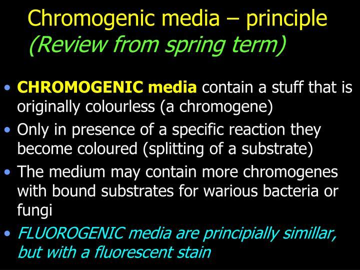 Chromogenic media – principle