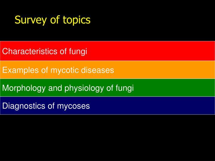Survey of topics