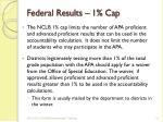 federal results 1 cap