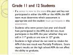grade 11 and 12 students