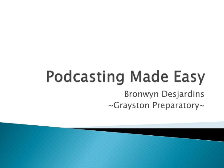podcasting made easy n.