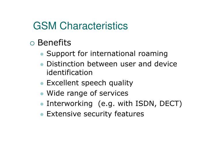 GSM Characteristics