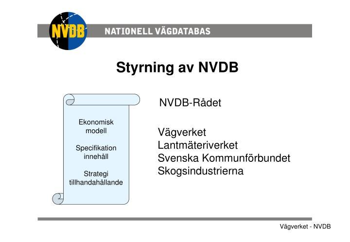 Styrning av NVDB