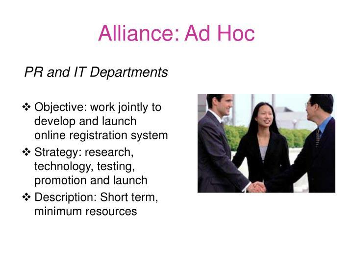 Alliance: Ad Hoc