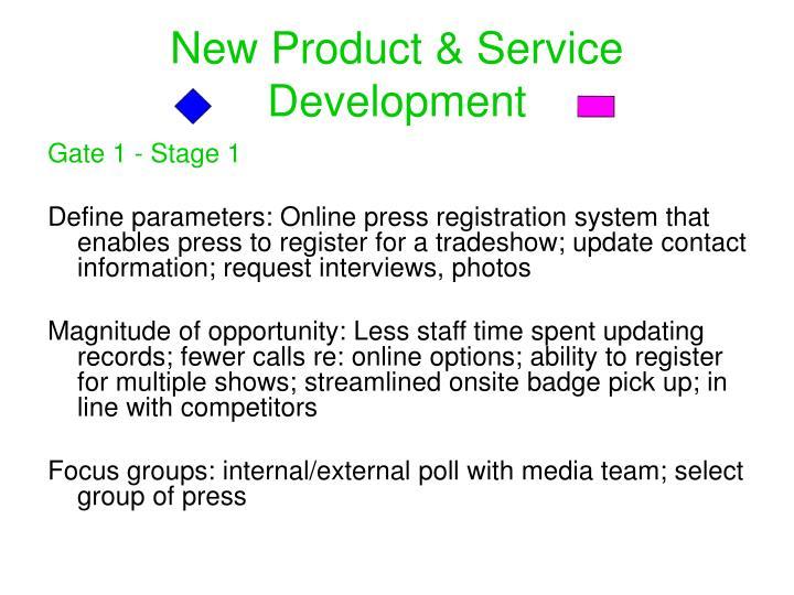 New Product & Service Development