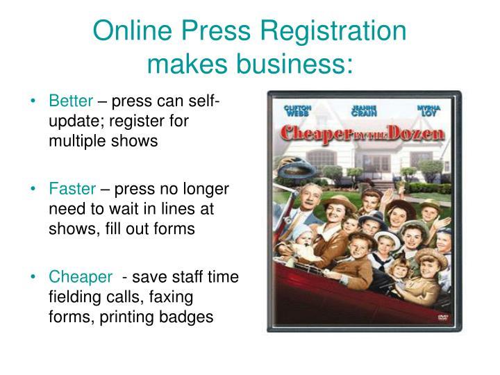 Online Press Registration