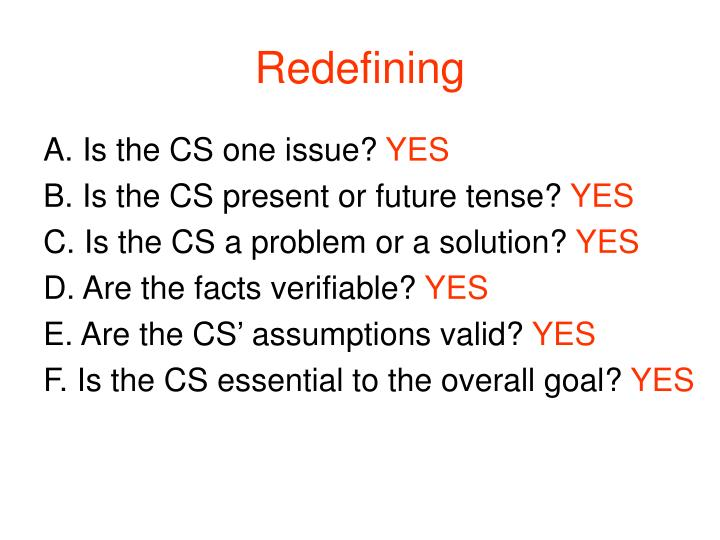 Redefining