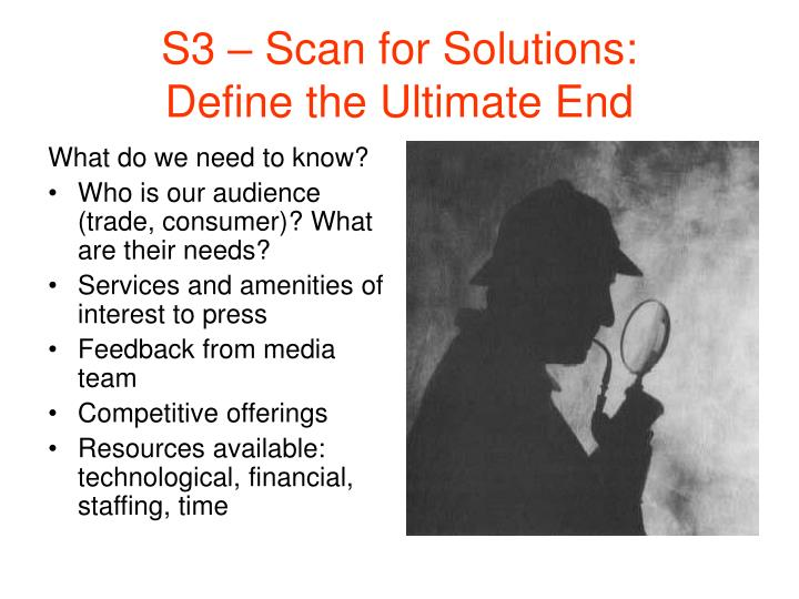 S3 – Scan for Solutions: