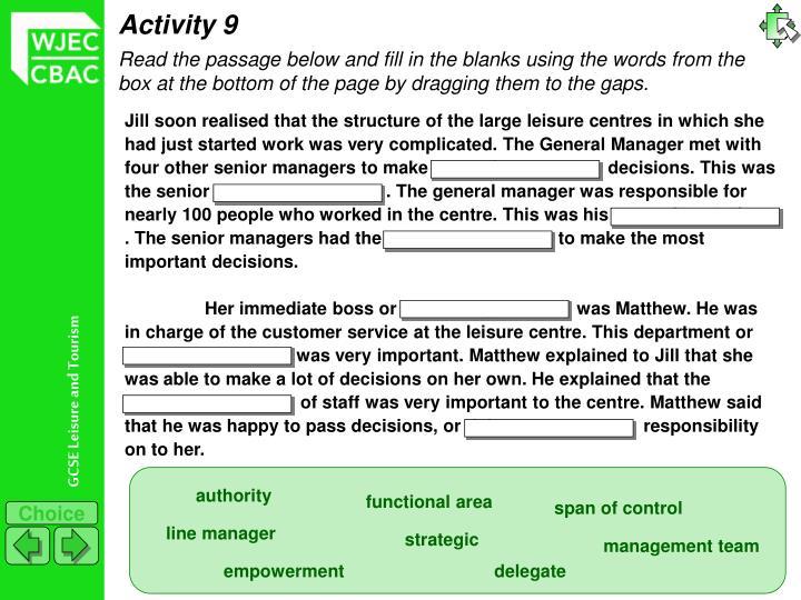 Activity 9