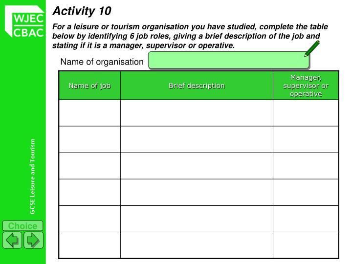 Activity 10