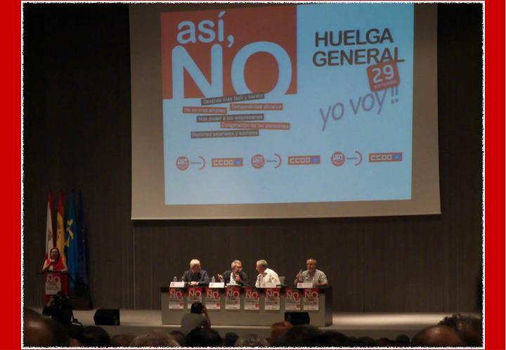 Asamblea en gij n para la huelga general del 29s ugt y cc oo 21 de julio de 2 010